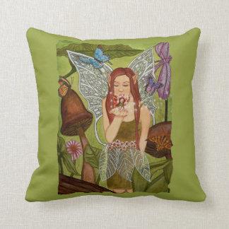 Take Flight, My Friend! Fairy friends art. Throw Pillow