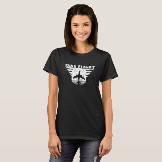 Take Flight pilot aircraft home dark t-shirt