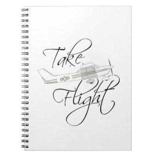 Take Flight Simple Inspirational Notebook