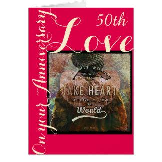 Take Heart 50th anniversary  card