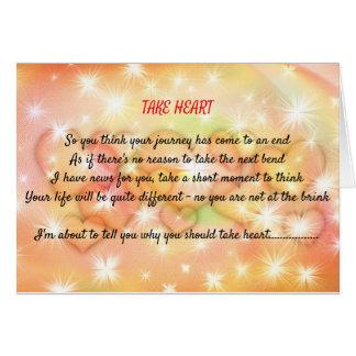Take Heart Inspirational Card