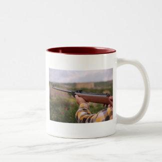 Take hunting with you wherever you go! Two-Tone coffee mug