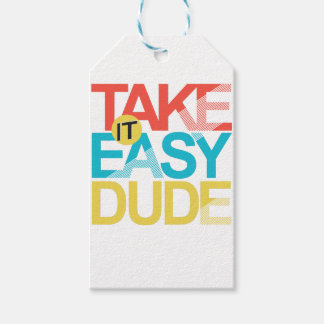take it easy dude pack of gift tags