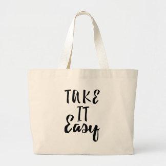 take-it-easy large tote bag