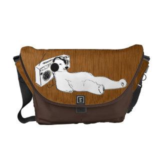 take it easy polar bear stereo courier bag