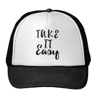 take-it-easy trucker hat