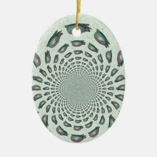 Take it Slow Ceramic Oval Ornament