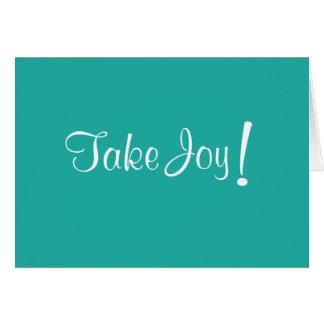 Take Joy! Card, Blank Inside Card