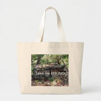 Take me Hiking Tote Jumbo Tote Bag