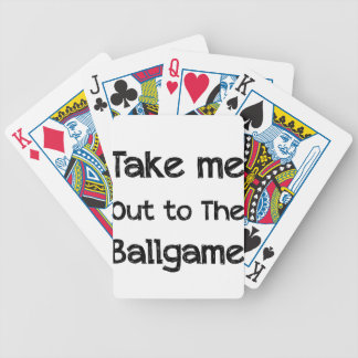 Take Me Out To The Ball Game Bicycle Playing Cards