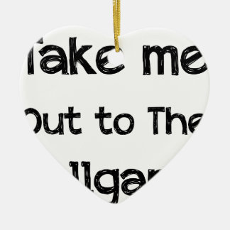 Take Me Out To The Ball Game Ceramic Heart Ornament
