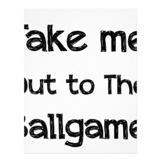 Take Me Out To The Ball Game Custom Letterhead