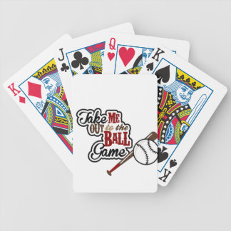 Take Me Out To The Ball Game design Bicycle Playing Cards