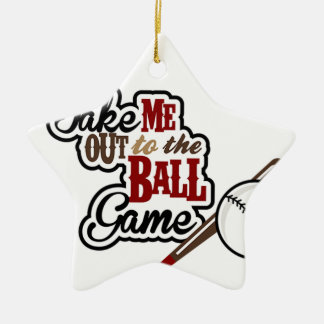 Take Me Out To The Ball Game design Ceramic Star Ornament