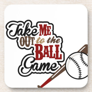 Take Me Out To The Ball Game design Coaster