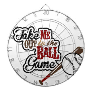 Take Me Out To The Ball Game design Dartboard