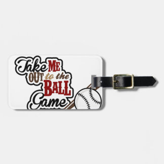 Take Me Out To The Ball Game design Luggage Tag