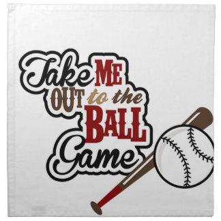 Take Me Out To The Ball Game design Napkin