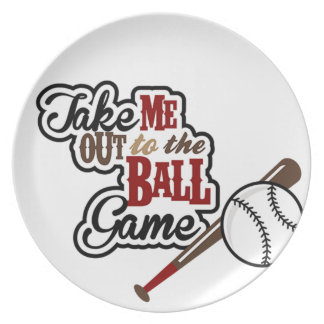 Take Me Out To The Ball Game design Party Plates