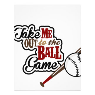 Take Me Out To The Ball Game design Personalized Letterhead