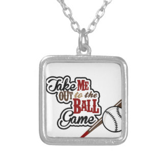Take Me Out To The Ball Game design Silver Plated Necklace