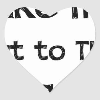 Take Me Out To The Ball Game Heart Sticker