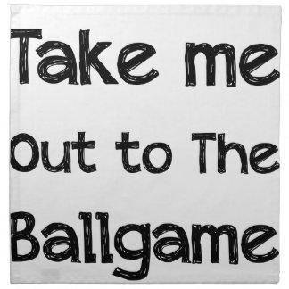 Take Me Out To The Ball Game Napkin