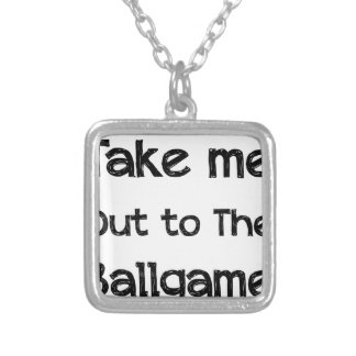 Take Me Out To The Ball Game Silver Plated Necklace