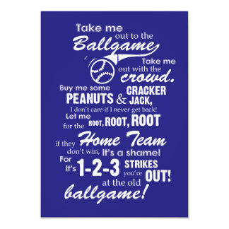 Take Me Out to the Ballgame Card