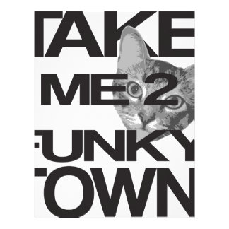 Take Me To Funky Town Cat Letterhead