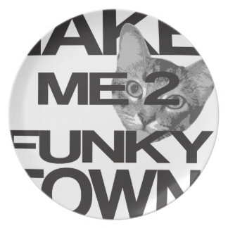 Take Me To Funky Town Cat Plate