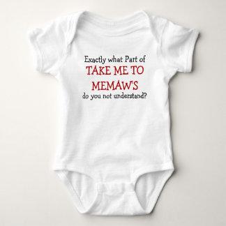 Take Me To Memaw's Baby Infant Bodysuit