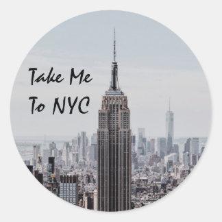 Take Me To NYC Classic Round Sticker