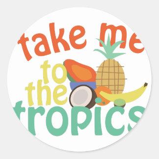 Take Me To The Fropics Round Sticker