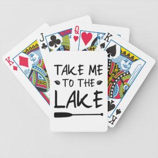 Take Me To The Lake Bicycle Playing Cards