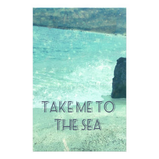 Take Me To The Sea quote Stationery