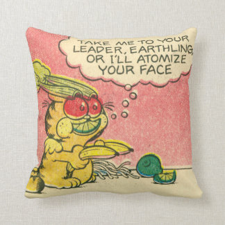 Take Me to Your Leader Garfield Pillow