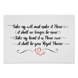 Take My Will and Make it Thine Poster