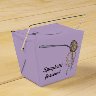 "Take out box ""Rainbow likes spahetti!"""
