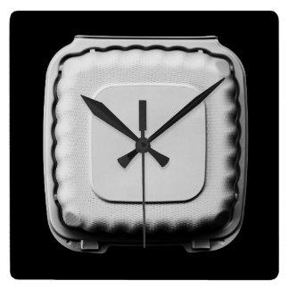 Take Out Container Still Life - Fun Cool Unique Square Wall Clock