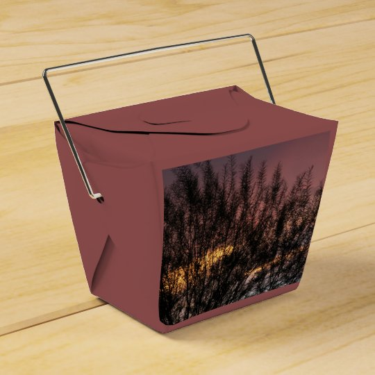 Take Out Favour Box SUNSET TREE PHOTOGRAPH Favor Boxes