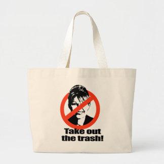 Take out the trash jumbo tote bag
