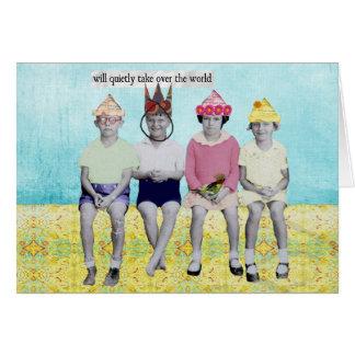 Take Over the World Retro Humourous Card