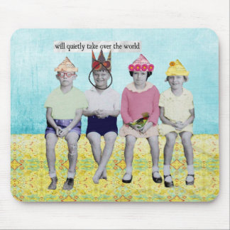Take Over the World Retro Humourous Mousepad