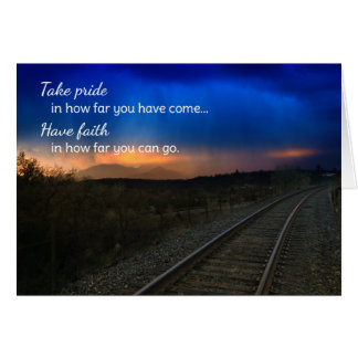 Take pride in how far...Motivational Card