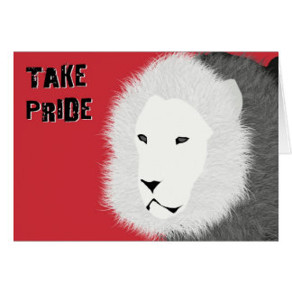 Take Pride Note Card - Lion in Red