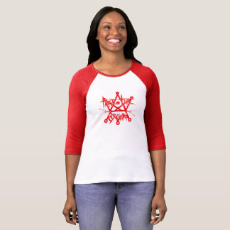 Take The Crown - Blood Red Baseball Tee