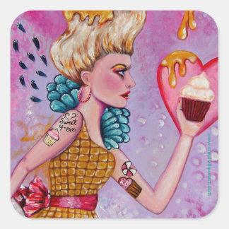 Take the Cupcake and Run Square Sticker