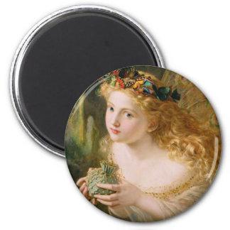 Take the Fair Face of Woman Vintage Fine Art Magnet
