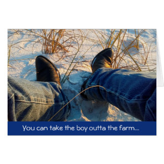 Take The Farm Boy to The Beach Greeting Card